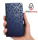 Blue Vintage Luxury Flip Cover Wallet Card PU Leather Phone Case Stand iPhone
