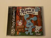 🔥 BLUE'S BIG MUSICAL - PS1 PlayStation 1 PSX 💯COMPLETE MINT BLACK LABEL GAME