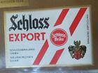 VINTAGE GERMAN BEER LABEL - SCHLOSS EXPORT - WHITE