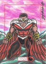 2014 Marvel 75th Anniversary Jofel B. Cube SketchaFEX Sketch Card Of Falcon RARE