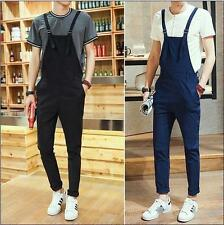 Mens Fashion New Dungarees Straight Overalls Suspenders Jumpsuits romper Pants #