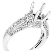 Diamond Engagement Ring Setting VS1 Diamond 3 Stone 0.80ct 18k White Gold
