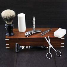 VINTAGE BARBER SALON GILLETTE MACH 3 SHAVING RAZOR Gift Set 9 Pc Luxury Kit