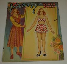 Vintage Saalfield 1951 Paper Dolls VANITY Uncut Complete