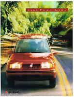 1995 SUZUKI Brochure/Catalog w/Color Chart:SIDEKICK,SAMURAI,SWIFT,JX,JS,4x4,4WD,