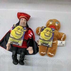 NEW Plush Shrek McFarlane Lord Farquat and Gingerbread Man