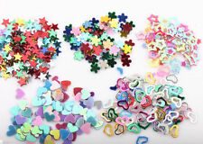 5000 X 3mm Mixed Glitter Heart Star Flower Sequins Stickers Decals Nail Art DIY