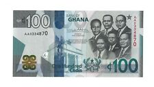 GHANA 100 Cedi 2019, Beautiful New Banknote, Pack Fresh UNC, AA-Prefix, High FV