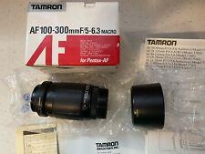 Tamron AF 100-300mm F5-6.3 Macro For Pentax Mount Lens with Box #186DP