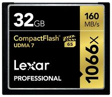 Lexar 32GB Professional 1066x UDMA 7 Compact Flash CF Pro VPG-65 4K Memory Card