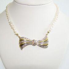 Collier Gold 585 Diamanten Biwaperlen Halskette Perlenkette 14 kt.