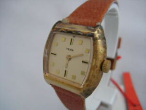 NOS NEW VINTAGE YEMA STAINLESS STEEL NICE WATCH 1960'S