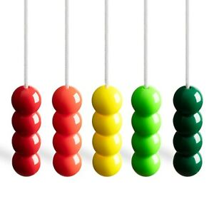 Light Pull Cord with a Bead Style Handle in a choice of Bright and Fun Colours.
