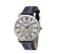 Kenneth Cole Men's 43mm Automatic Black Leather Mineral Glass Watch KC1932