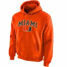 Miami (FL) Hurricanes NCAA Men's Orange Hoodie, Medium