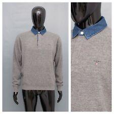 GANT Wool Jumper Men's Denim Collar Sweater Top M