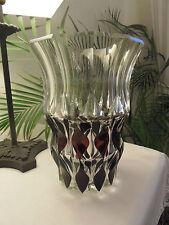 VAL ST LAMBERT - Vase signé VSL - couleur prune