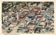 Danville Illinois Business Section Antique Postcard J46143