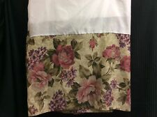 Bed Skirt King Size Floral Roses Dust Ruffle Shabby Chic French Country P3