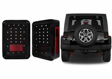 Smoked LED Tail Lights For 2007-2017 Jeep Wrangler JK New Free Shipping USA