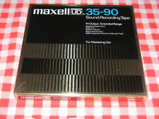 """Mint Sealed NOS Maxell UD 35-90 reel tape 7"""" 1800' ¼"""""""