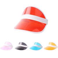 Summer PVC Hat Sun Visor Party Casual Hat Clear Plastic Adult Sunscreen Cap ATA