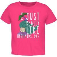 I Just Really Like Mermaids Ok Cute Toddler T Shirt