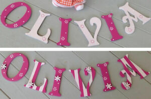 *ANY NAME & ANY COLOUR* Personalised Wooden Door Letters Name or Toy Box #27#