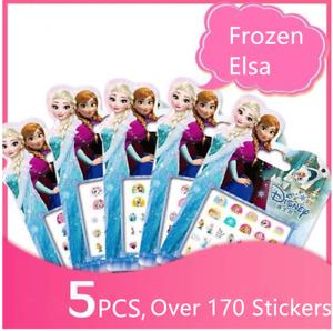 5 Elsa Frozen Princess Gift set Kids Girls Nail stickers Art Decal Party Filler