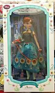 "DISNEY FROZEN FEVER PRINCESS ANNA 17"" Castle Heirloom DESIGNER DOLL LTD NIB"