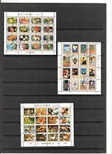 N°578  UMM AL QIWAIN  - 3 mini-blocs oblitérés