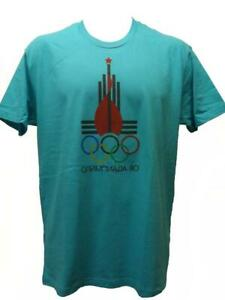 New Moscow Russia Summer Olympics 1980 Mens Sizes M-L-XL-2XL Licensed Shirt