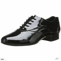 CAPEZIO Brand NEW Boys Black VINTAGE PATENT LEATHER TAP Jazz DANCE Shoes Sz 9 W