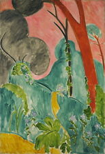 Henri Matisse Periwinkles Moroccan Garden Giclee Canvas Print Paintings Poster R