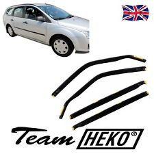 DFO15227 FORD FOCUS mk2 ESTATE 2004-2010 WIND DEFLECTORS 4pc HEKO TINTED