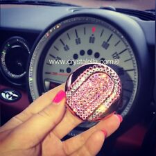 Rose Pink Crystal Remote Key Case Holder Shell Protect Cover for BMW Mini Cooper