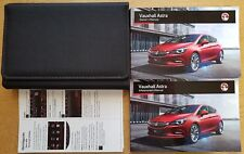 GENUINE VAUXHALL ASTRA K OWNERS MANUAL HANDBOOK WALLET 2015-2018 LATEST PACK