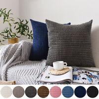 1/2/4Pcs Velvet Square Pillow Cases Throw Waist Cushion Cover Bed Sofa Pad Decor