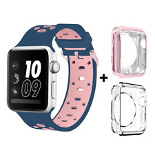 Apple Watch Silicone Replacement Bracelet Loop Strap Band & Case for iWatch 42mm
