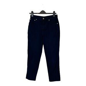 Womens casual dark navy cotton M&S denim jeans, UK Size 12 Short, EXC CON