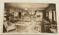 Vintage Real Photo Post Card RPPC Florence, Oregon Hotel Ragan - The Lobby