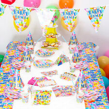 90 PCS  Birthday Wedding Party Decor & Supplies Sets For The theme Patty Time