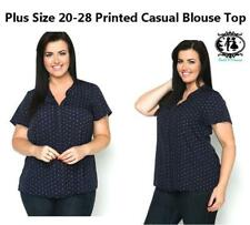 Geometric Casual Blouse Plus Size for Women