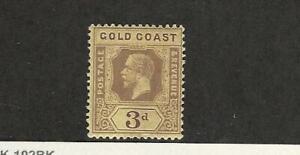 Gold Coast, Postage Stamp, #73a Mint LH Die II WMK3, 1919, JFZ
