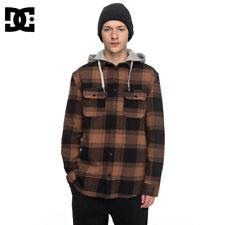 DC Shoes Men Runnel Flannel Snowboard Hoodie Hooded Shirt Jacket L Skate Street