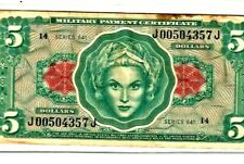 """$5 """"Military Payment Certificate"""" Series 641 $5 """"Military Payment"""" Series 641 !"""