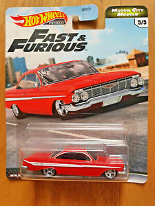 HOT WHEELS 2020 FAST & FURIOUS MOTOR CITY MUSCLE 5/5 '61 (Chevy) Impala