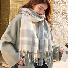 Écharpe foulard acrylique chaud automne hiver pour femme bleu gris jaune chics