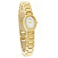 Pulsar by Seiko Mother of Pearl Dial Gold Tone Women's Watch PEG752