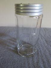 Hoosier Spice Jar {Cinnamon} Decal Ribbed /Panel GLASS Jar Tin Shaker O /C Lid